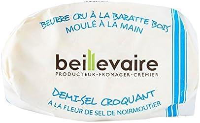 Beillevaire Raw Semi Salted Butter with Salt Crystals, 125g - Chilled