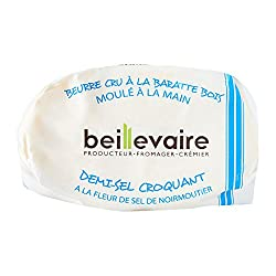 Beillevaire Raw Semi Salted Butter with Salt Crystals, 125g - Chilled