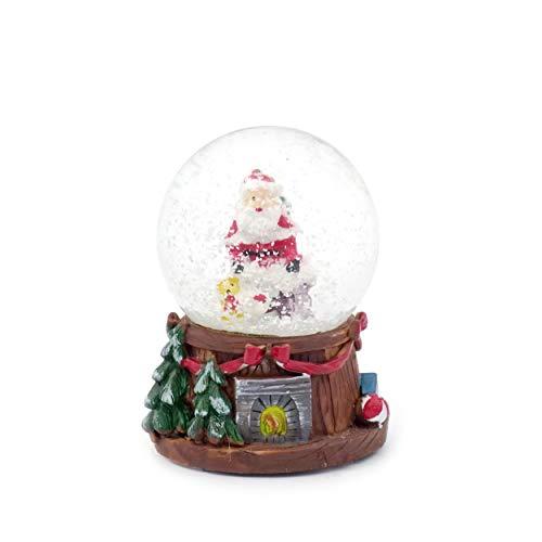 GIRM P31552762-B21.1 Palla di Vetro di Natale. 4,5xh6 cm. Decorazione Natalizia, Addobbo di Natale