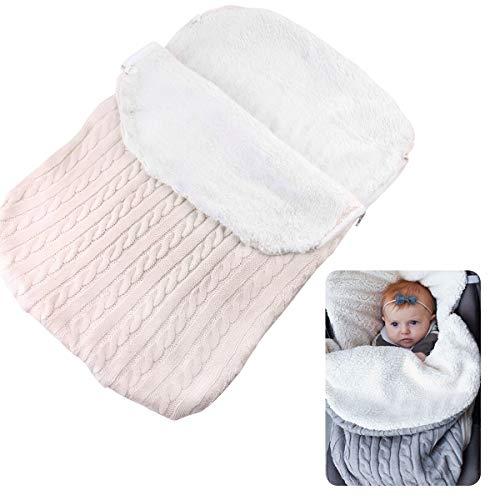 FAMKIT Saco de dormir para bebé bebé de punto de ganchillo Swaddle Wrap Fleece Warm Swaddling manta para bebé niños niñas