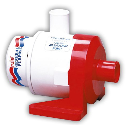 Rule 17A Marine Rule 3800 Marine General Purpose Centrifugal Pump (3800-GPH, 12-Volt) , White/Red
