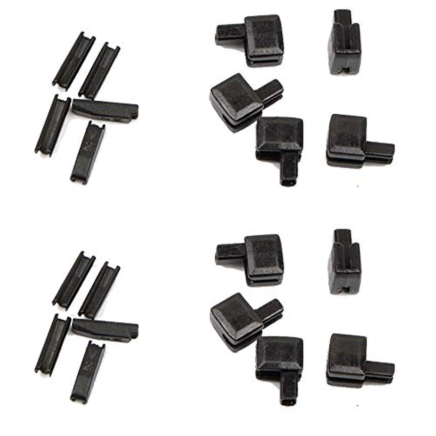 Trycooling 20Pcs Metal Zipper Latch Slider Retainer Insertion Pin Easy for Zipper Repair Zipper Repair Kit (#5) (Black)