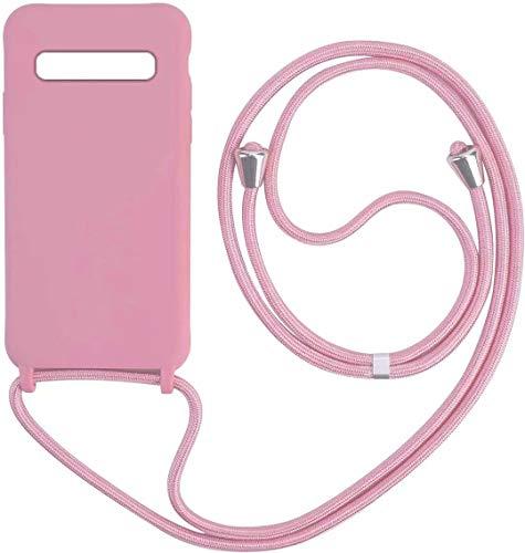 1stfeel Compatibile con Samsung Galaxy S10E Custodia Protezione Morbido TPU Silicone Cover con Collana Practical Stylish.