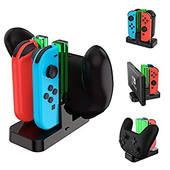 TalkWorks Joycon Charging Dock for Nintendo Switch - Controller and Joycons Charger Base Station Stand Holder - Remote Game Accessories Organizer for Right/Left Joy Con