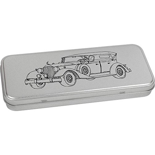 180mm x 75mm 'Voiture Ancienne' boîte de Papeterie métal (TT00051211)