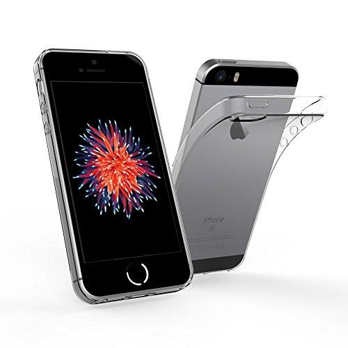 Simpeak iPhone SE 対応 ケース Apple iPhone SE 5 5s 適応 クリア保護カバー TPU 耐衝撃バンパー アンチスクラッチ