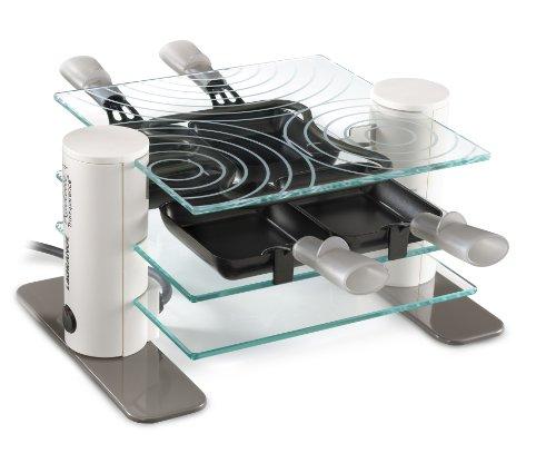 Lagrange - Raclette Transparence, 4 coupelles 009404 Blanc
