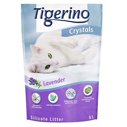 Tigerino Crystals Katzenstreu, Lavendel, 6 x 5 l