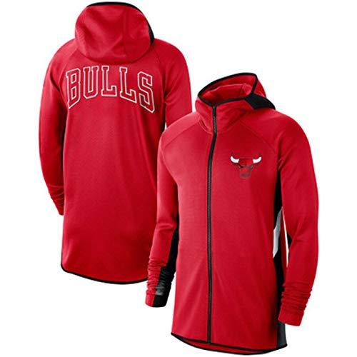 Chaqueta de Baloncesto, Tornos Sportswear Taje de Entrenamiento de Calentamiento Entrenamiento Transpirable, Pullover Inflable con Cremallera Traje Deportivo de Jogg Red-L