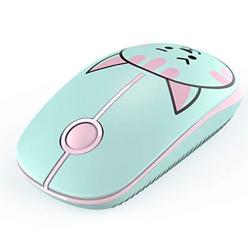 Jelly Comb 2.4G Maus Schnurlos Wireless Kabellos Optische Maus mit USB Nano Empfänger für PC/Tablet/Laptop und Windows/Mac/Linux (Katze)