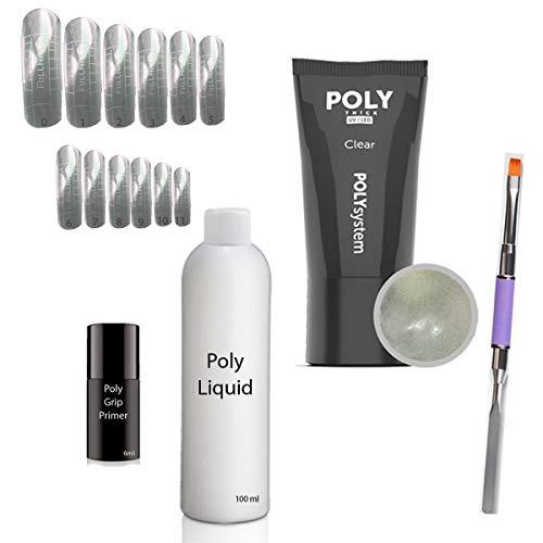 Set de Gel Poly Acrylique 1 - Système Dual Tip - pointes de forme double système - Popits