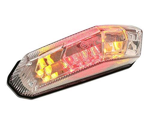 Achterlicht STR8 LED met knipperlichten - 15x8,5 cm universeel