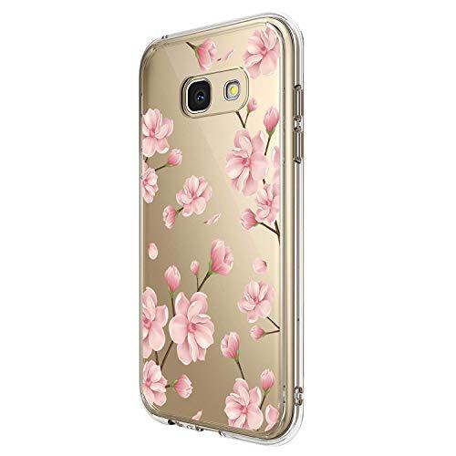 Pacyer Custodia Compatibile con Samsung Galaxy A5 2017 Cover silice TPU Caso 360 Gradi Protezione Trasparente Crystal Shell Anti-graffio Ultra Sottile Shock-Absorption Protettiva (5)