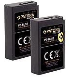 PATONA Protect (2X) Compatible con batería Olympus BLS-5 BLS-50 (1100 mAh)