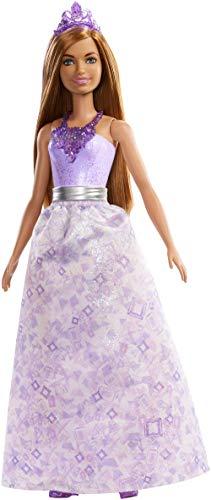 Barbie FXT15 - Dreamtopia Prinzessin Puppe mit braunen Haaren und lila Outfit, Puppen Spielzeug und Puppenzubehör ab 3 Jahren