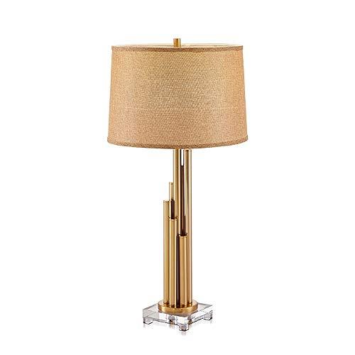 Hancoc Moderna minimalista creativa personalidad clásica lámpara de mesa base de cristal para sala de estar, lámpara de mesa 38 x 82 cm