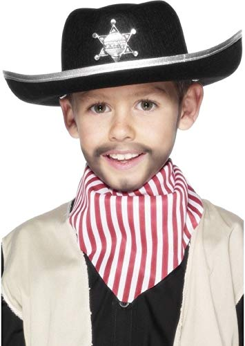 Enfants Garçons Filles Enfants Noir Sheriff Far West Cowboy Costume Déguisement Accessoire Chapeau