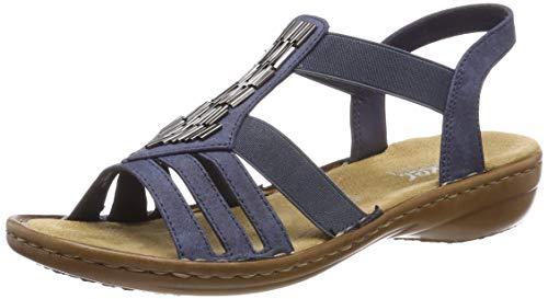 Rieker Damen 60800-14 Geschlossene Sandalen, Blau (Baltik 14), 40 EU