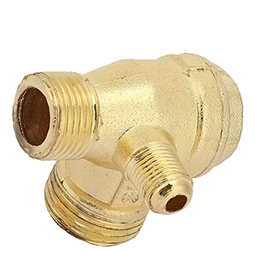 LAANCOO Compresor de Aire de la válvula de retención de latón de 90 Grados Rosca Macho del Tubo Conector válvula de retención de Piezas de Repuesto 20x16x10mm