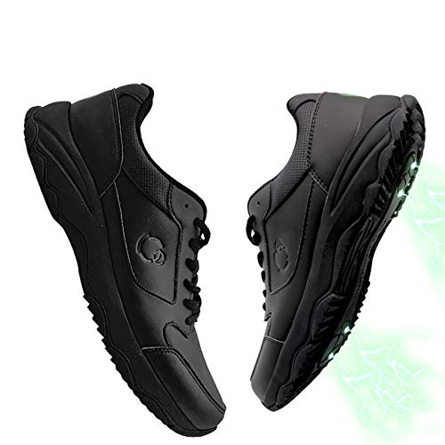 Grounding Shoes Unisex Earthing Sneaker Connecting to The Earth's Natural Energy, Grounded Therapy, EMF & ESD Protection, Sleep Assist, Less Anxiety, Great for Meditation Black