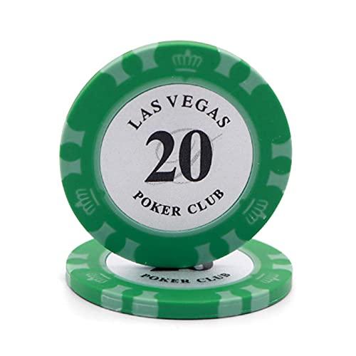 Jeu de Poker Chips Jetons personnalisés Clay Metal Core 14g