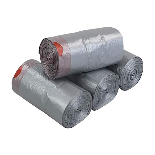 Bolsas de basura con cordón de 10 litros, 248 bolsas con cordón, 4 rollos