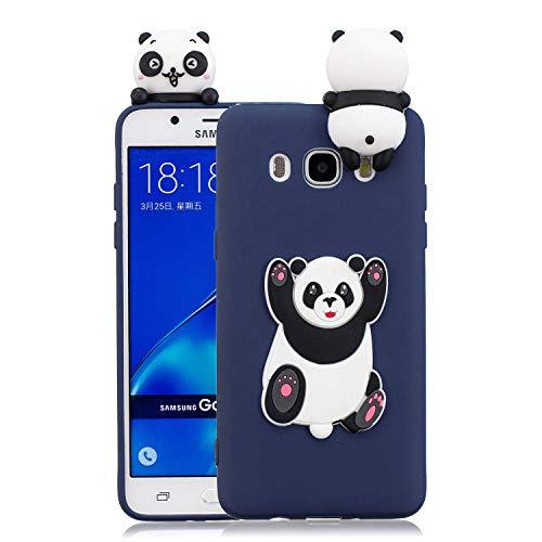 Funluna Cover Samsung Galaxy J5 2016, 3D Grande Panda Modello Ultra Sottile Morbido TPU Silicone Custodia Antiurto Protettiva Copertura Flessibile Gomma Gel Back Cover per Samsung Galaxy J5 2016