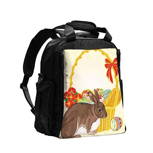 Mamá Pañales Cambiante Bolsa de Pañales Mochila Conejo de Pascua de mimbre Durable Escuela Bolsa Ajustable Lobtop Mochilas Elegante Bolso Portátil