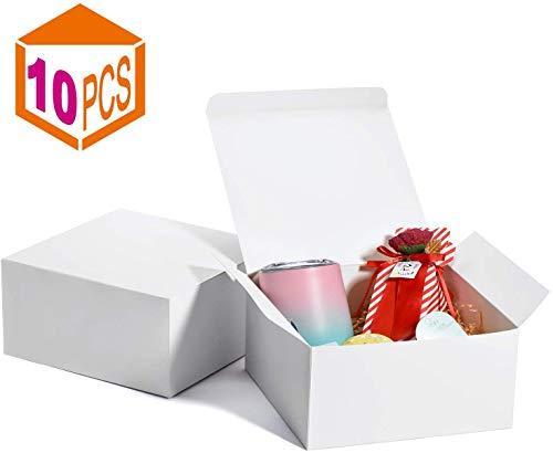 Switory Cajas de regalo de 10 piezas con tapas, 20x20x10cm cajas de regalo de papel Kraft...