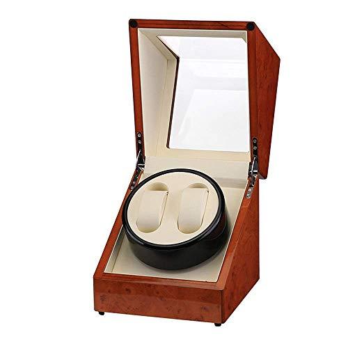 HYCy Caja de Reloj con agitador de Motor silencioso, máquina giratoria de Reloj con Motor silencioso, Adecuada para 2 Relojes automáticos, Caja de Reloj