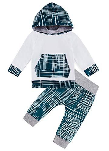 Kids4ever Baby Babykleidung Warme Kapuzenpullover Bekleidungsset 3D Lustig Druck Herbst Winter Kapuzenoberteile and Hose für 0-6 Monat Kleinkinder