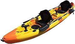Cambridge Kayaks ES, Sun Fish TÁNDEM SÓLO 2 + 1 Naranja Y Amarillo, RIGIDO