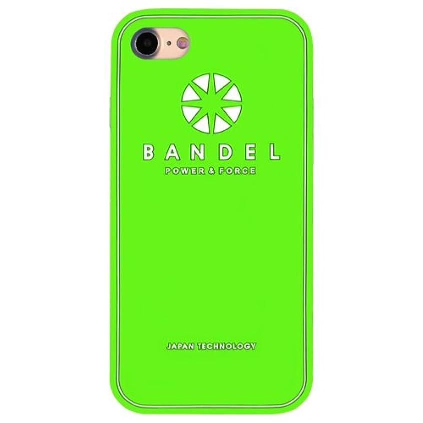 摘む十代グリーンランドバンデル(BANDEL) ロゴ iPhone 8 Plus専用 シリコンケース [グリーン×ホワイト]