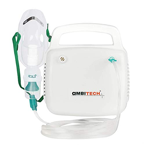 AmbiTech NC 10 Compressor Nebulizer Machine Kit White ( Made in India )