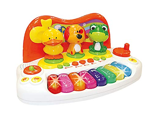 Haberk Kinder Baby Keyboard Animal Piano mit Tierstimmen Licht Sounds