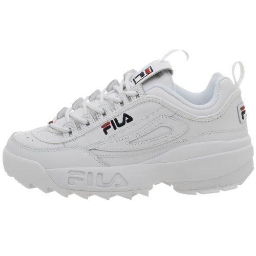 FilaBaskets Strada Disruptor pour homme, Blanc (Blanc/Peacoat/Vinred), 40 EU