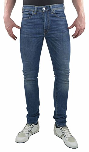 Levis Red Tab 519 Super Skinny Fit Jeans BLUE 34SHORT