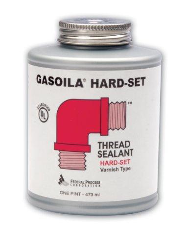 Gasoila Hard-Set Red Varnish Thread Sealant, -60 to 350 Degree F, 1/4 pint Can