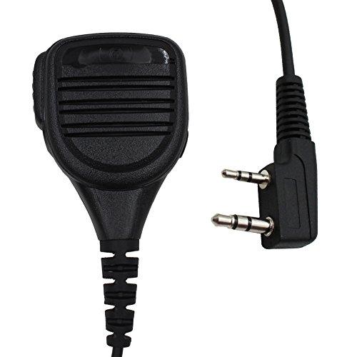 Tenq Waterproof Rainproof Shoulder Remote Speaker Mic Microphone for 2 PIN Kenwood Baofeng Puxing Quansheng Weierwei Wouxun Two Way Radio -  S025