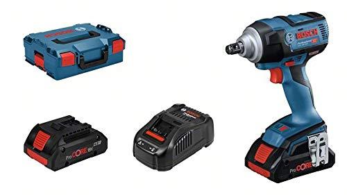 Bosch Professional 18V System GDS 18V-300 - Atornillador de impacto a batería (2 baterías x 4.0 Ah, 18V, 300 Nm, M18, en L-BOXX)