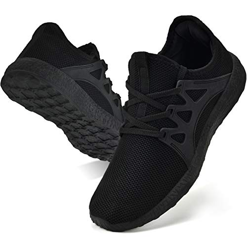 Troadlop Womens Non Slip Running Shoes Ultra Lightweight Knitted Breathable Mesh Sneakers Athletic Gym Sports Walking ShoesBlack 10 US