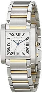 Cartier Men's W51005Q4 Tank Francaise Automatic Stainless Steel and 18K Gold Watch Review and Order Now!! and review