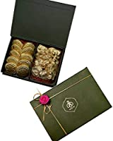 Queen & Bee Chocolate Gift Box (10 x Biscuit Chocolate + 12 x Almond Rocks) (380gm) (Diwali Gift Pack)