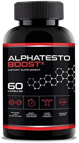 Alphatesto Boost X 60 Capsules/Pills for Men (Dietary Supplement)