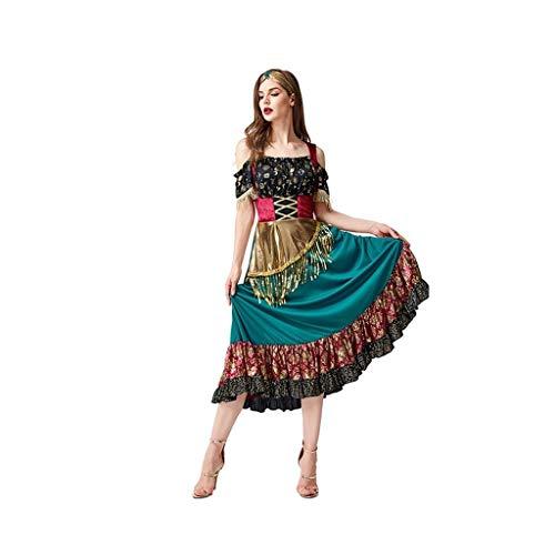 Disfraces de halloween mujer Disfraces de Halloween for las seoras edad, Escenario decoraciones for gitanas nias, trajes de cosplay parte, incluyendo los vestidos, gorros disfraces de halloween
