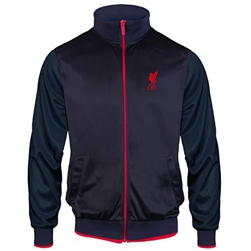 Liverpool FC Herren Retro-Trainingsjacke - 100% Polyester - Dunkelblau LFC - M