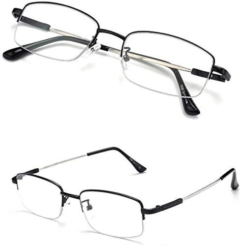 Faltbare Fern- und Nahbrille mit doppeltem Verwendungszweck Männliches Anti-Blau-Licht Intelligenter Zoom Einfache Nah- und Fernbrille (Farbe: Schwarz, Größe: +3,50)