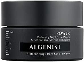 Algenist POWER Recharging Night Pressed Serum - Overnight Treatment to Refine Dull, Uneven Texture with Algae, Collagen & Coconut Water - Non-Comedogenic & Hypoallergenic (60ml / 2oz)