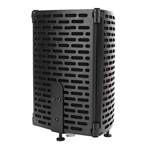 Cubierta a prueba de sonido del micrófono, tablero de pantalla de viento multicapa filtro de sonido portátil plegable conveniencia para escritorio