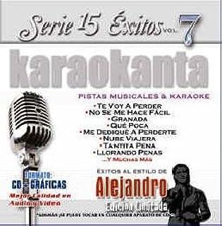 Amazon.com: Karaokanta KAR-1507 - Al Estilo de Alejandro Fernnndez Spanish CDG: Musical Instruments